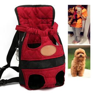 UK Pet Front Backpack Puppy Travel Carrier Backpack Adjustable Comfort Dog Strap