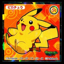 POKEMON STICKER Carte JAPANESE 48X48 0000 N° 09 PIKACHU HOLO