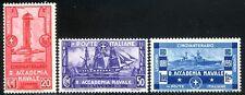Regno d'Italia 1931 Regia Accademia Navale di Livorno S60 n. 300/302 ** (l543)