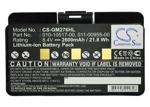 Battery for Garmin GPSMAP 276 276c 296 (p/n 010-10517-01)