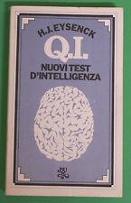 H.J. Eysenck - Q.I. nuovi test d'intelligenza - Prima Ed. BUR Rizzoli 1977