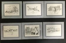 Jack Saxon 6 Pen and Ink Drawings Scenes of Thurso Caithness Scotland