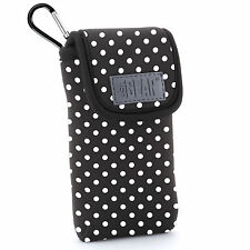 Protective iPhone SE Case Holster by USA Gear with Belt Loop & Clip - Polka Dot