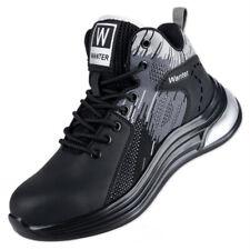 Sapatos de trabalho indestrutível homens sapatos de segurança biqueira de aço à prova de furos de trabalho Tênis