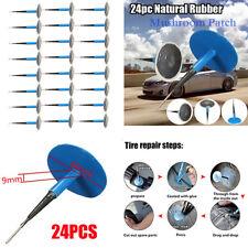 24x Voiture Tubeless Pneu Réparation Crevaison filaire 9mm Plug Patch Champignon