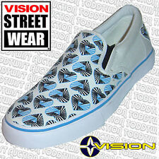 VISION STREET WEAR BLEU HYPNO coeur Chaussures à enfiler 5.5 UK - 8 USA