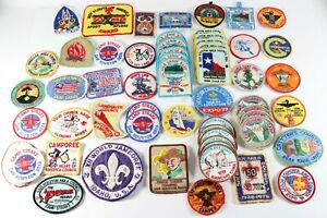 Vintage LOT of Assorted Sam Houston Chickasaw Boy Scouts BSA Camp Repair Patches