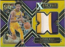 2017-18 Panini Select Lonzo Ball X Factor Gold Patch Lakers RC 02(jsy#)/10 Prizm