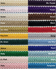 """1/2"""" Chinese French Braid Gimp Trimming - 12 Continuous Yards - Many Colors!"""