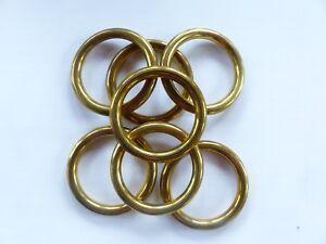 7 Hohlringe - Prym - 38/50mm - metall - gold