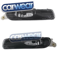 BMW E46 98-00 3-SERIES SEDAN EXECUTIVE FRONT BUMPER OEM STYLE FOG LIGHT BLACK