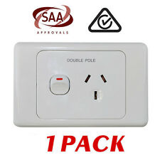 1 x Single 10AMP Power Point GPO - DOUBLE POLE - White Electrical  - SAA