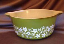 Pyrex 1950s Spring Blossom Cinderella # 475 B 2.5 QT Quart Casserole Dish Bowl