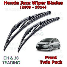 "(09-14) Honda Jazz Front Wiper Blades Windscreen 26""14"" Hook Type Wipers MK2 GE8"