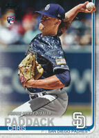 Chris Paddack 2019 Topps Update Rookie Debut Card RC US207 San Diego Padres