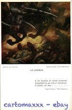 """WW1 WWI Propaganda - G. La Touche - """"La Guerra"""" - Cavalli Horses Foscolo - PV322"""