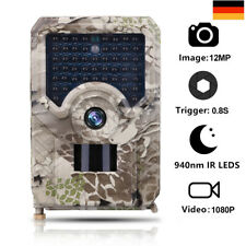 1080P JagdKamera Wildkamera 12MP Fotofalle SpielTrail Wasserdicht Nachtsicht DHL