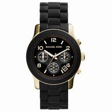 Michael Kors Ladies Runway Chronograph Black & Gold Bracelet Watch MK5191