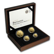 2011 4-Coin Gold Britannia Proof Set (w/Box & COA) - SKU #62313