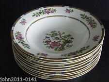 """Indian Tree Soup Bowls x 10 Cauldon Potteries Allertons Ltd 9.5"""" 24.5cm"""