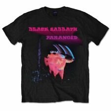 Black Sabbath Paranoid Officially Licensed Black Tee Adult Large T-Shirt