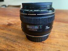 Canon EF 28mm f/1.8 AF USM Lens - Excellent Cond. w/UV Filter