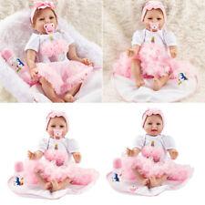 22inch Lifelike Reborn Baby Puppen Newborn Soft Vinyl Silicone Doll Handmade PAL