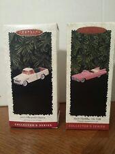 Lot 2 1996 Hallmark Collectors Series:1955 Chevy Cameo & 1959 Cadillac Deville