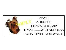YORKIE ADDRESS LABELS COOL!!! #2