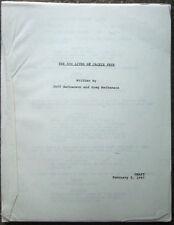 """Movie Script """"The 900 Lives of Jackie Frye"""" 1997 Tom Cavanagh"""