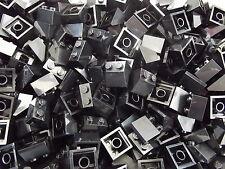 50 Lego NUOVO 45 2 x 2 BLACK Mattone pendenza Tettuccio no.3039 Building