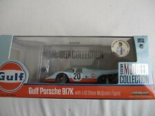 MINIATURE PORSCHE 917 K GULF STEVE MC QUEEN 1970  1/43 GREENLIGHT AVEC FIGURINE
