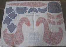 "Calico Mother Goose Fabric Panel Lightweight Vintage Fabric 43""x 35"""