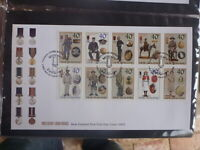 NEW ZEALAND 2003 MILITARY UNIFORMS STRIP 10 STAMPS FDC FIRST DAY COVER