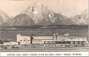 RPPC Moran WY Jackson Lake Lodge Grand Teton National Park 1950s