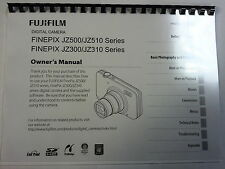 FUJIFILM JZ500/JZ510 PRINTED INSTRUCTION MANUAL USER GUIDE 123 PAGES A5