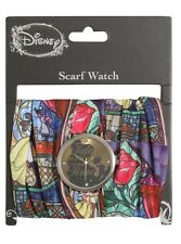 Disney Beauty & The Beast Stained Glass Scarf Watch New With Tags!