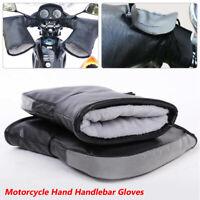 Waterproof Motorcycle Handlebar Gloves Hand Fur Muffs Winter Thermal Warm Mitts