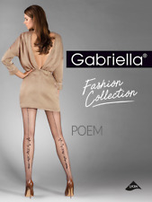 Stunning Seam Tights , Pantyhose  Gabriella Poem 20 Den Lycra floral / back seam