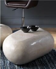 Stones Tavolino fossile White Agata Bianco 52x98x27 cm