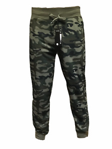 Mens Adults Jogging Bottoms Unisex Camouflage Como Army  With Zip Pockets Cargo