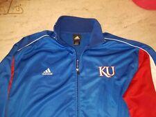 KU University of Kansas Adidas Track Basketball Jacket Blue Zip Embroidered 2XL