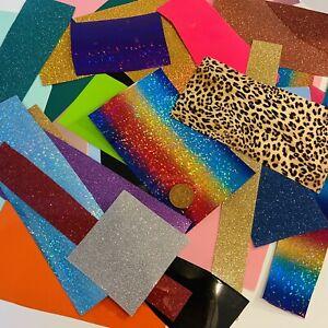 Job Lot HTV Bundle Heat transfer Vinyl Off cuts Scraps T-shirt craft scrapbook