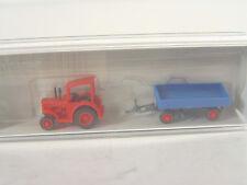 Hanomag Traktor m. Anhnger  - Preiser Spur N Fertigmodell  -  79502   #E
