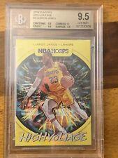 2019-20 NBA Hoops High Voltage LeBron James Los Angeles Lakers BGS 9.5 LOW POP