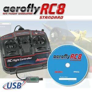 ikarus Flugsimulator AeroFlyRC8 - Aero Fly RC 8 Standard - DVD mit USB-Commander