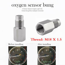 Car Metal O2 Sensor Adapter Catalytic Exhaust Spacer Bung Fix Check Engine Light