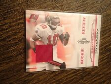 DEXTER JACKSON 2009 PRESTIGE ROOKIE REVIEW GAME USED JERSEY PATCH BUCCANEERS!!!!