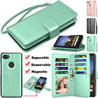 For Google Pixel 3a/3A XL Wallet Leather Flip Card Stand Strap Phone Case Cover