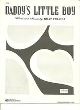 """BILLY COLLINS """"DADDY'S LITTLE BOY"""" PIANO/VOCAL/GUITAR SHEET MUSIC RARE 1949 SALE"""